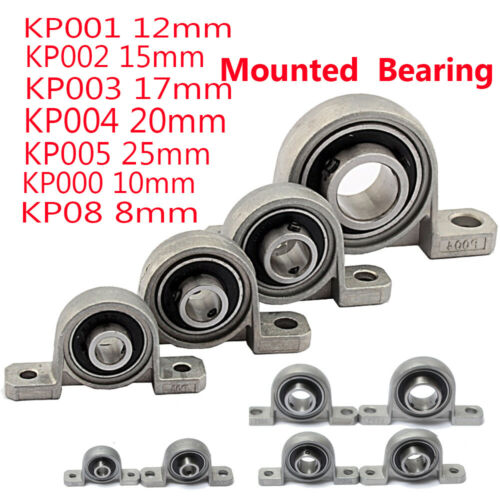 8//10//15//17//20//25mm Bore Diameter Mounted Bearing Ball Pillow Block 3D Printer