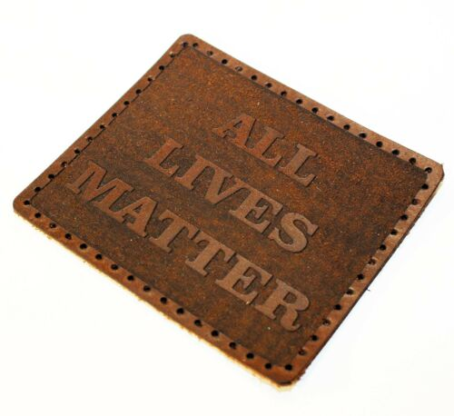 All lives matter leather patch,Black History leather patch.
