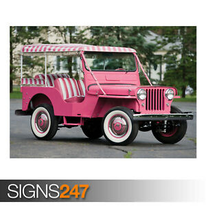 WILLYS-JEEP-GALA-SURREY-DJ3A-AE901-Photo-Picture-Poster-Print-Art-A0-to-A4