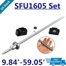 Ball Screw Rm1605 Sfu1605 250mm 1500mm C7 With End Machined Bkbf12 End Support