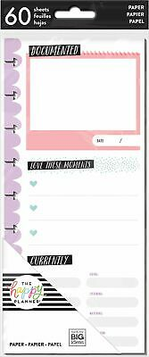 60 Sheets Focus Classic Half Page Note Paper by Happy Planner Check It Off ListsPlanner InsertsGrid Note Pages