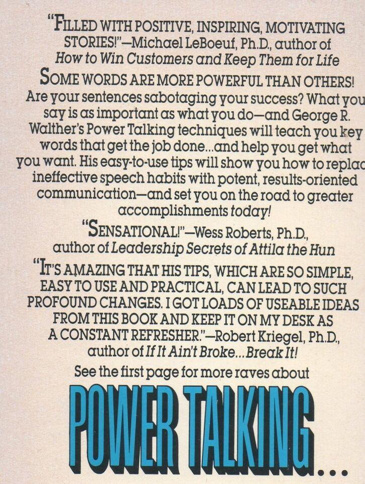 Power Talking, George Walther, emne: personlig udvikling