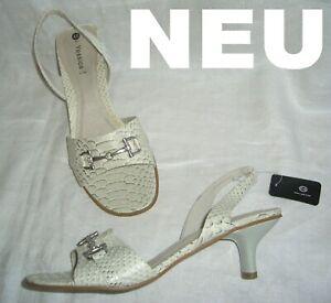 Sandaletten Snake Beige Gold Slingbacks Details Pumps Schuhe NeuEdle Sandalen Zu D g40 3j54ARLcq