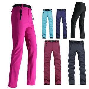 Image is loading Womens-Soft-Shell-Outdoor-Waterproof-Hiking-Fleece-Lined- 4141e41b43