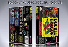 DOUBLE DRAGON 5. NTSC VERSION. Box/Case. Super Nintendo. BOX + COVER. (NO GAME).