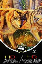 500 Piece 'Wolf Pack' HD Cardinal Puzzle NEW