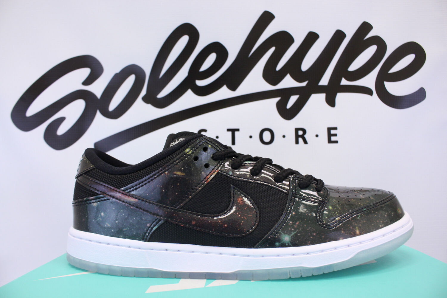 NIKE SB DUNK LOW TRD 420 QS QUICKSTRIKE GALAXY SPACE JAM BLK 883232 001 SZ 6