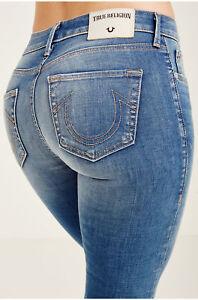 5c1c190513 Details about True Religion Women's Jennie Mid Rise Curvy Bootcut Jeans in  Rolling Indigo