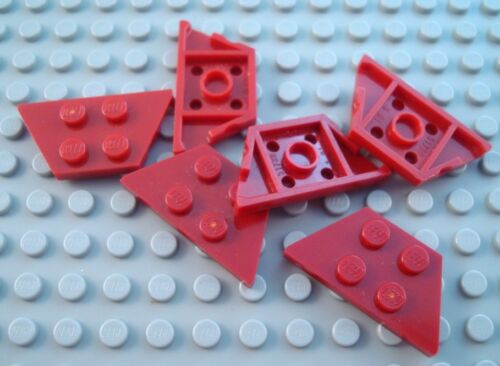LEGO Lot of 6 Dark Red 2x4 Wedge Wing Plate Pieces