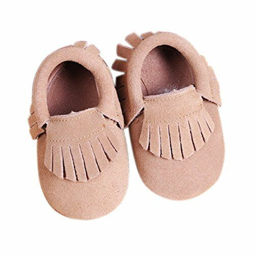 Soft Sole Suede Shoes Baby Toddler Infant Boy Girl Tassel Moccasin USA SELLER