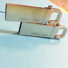 New 32GB 32G USB 2.0 Memory Stick Silver Hook USA SELLER!
