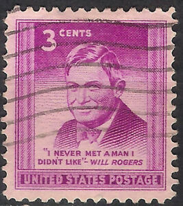 USA. 1948. 3 Cents. Will Rogers (Used)