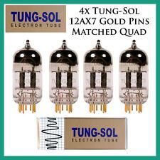 New 4x Tung-Sol Gold 12AX7 / ECC803S | Matched Quad / Quartet / Four Tubes