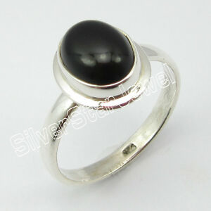 925-Sterling-Silver-Authentic-BLACK-ONYX-RING-SIZE-8-25-Discount-Jewelry