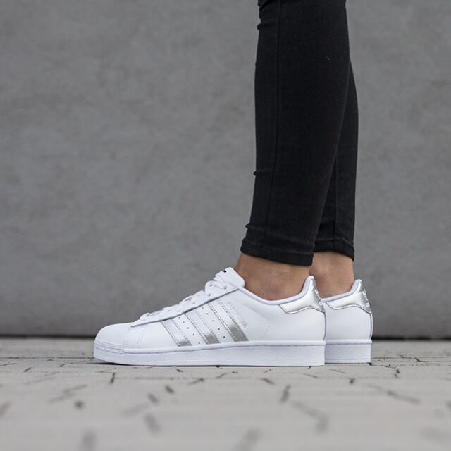 Details zu #S2K adidas Damen Sneaker Superstar Damen Sneaker weißsilber AQ3091 weiß