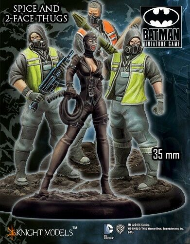 Spice e Two FACCIA Thugs 35mm BATMAN miniatura gioco knight models miniatura DC