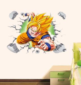 Dragon Ball Z Goku Mur Autocollant Amovible Wall Sticker mural Dragon Goku decor