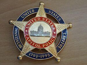 US CAPITOL POLICE insigne police badge Polizei Polizeiabzeichen 200 Jahre Cap.