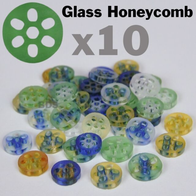 "3 Glass Honeycomb Screen Pyrex Medium Aprox 3//8/"" 7-9 x 2 mm New  Filter"