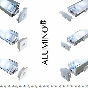 led aluprofil aluminium profile 2m 1m alu schiene leiste f r led streifen ebay. Black Bedroom Furniture Sets. Home Design Ideas