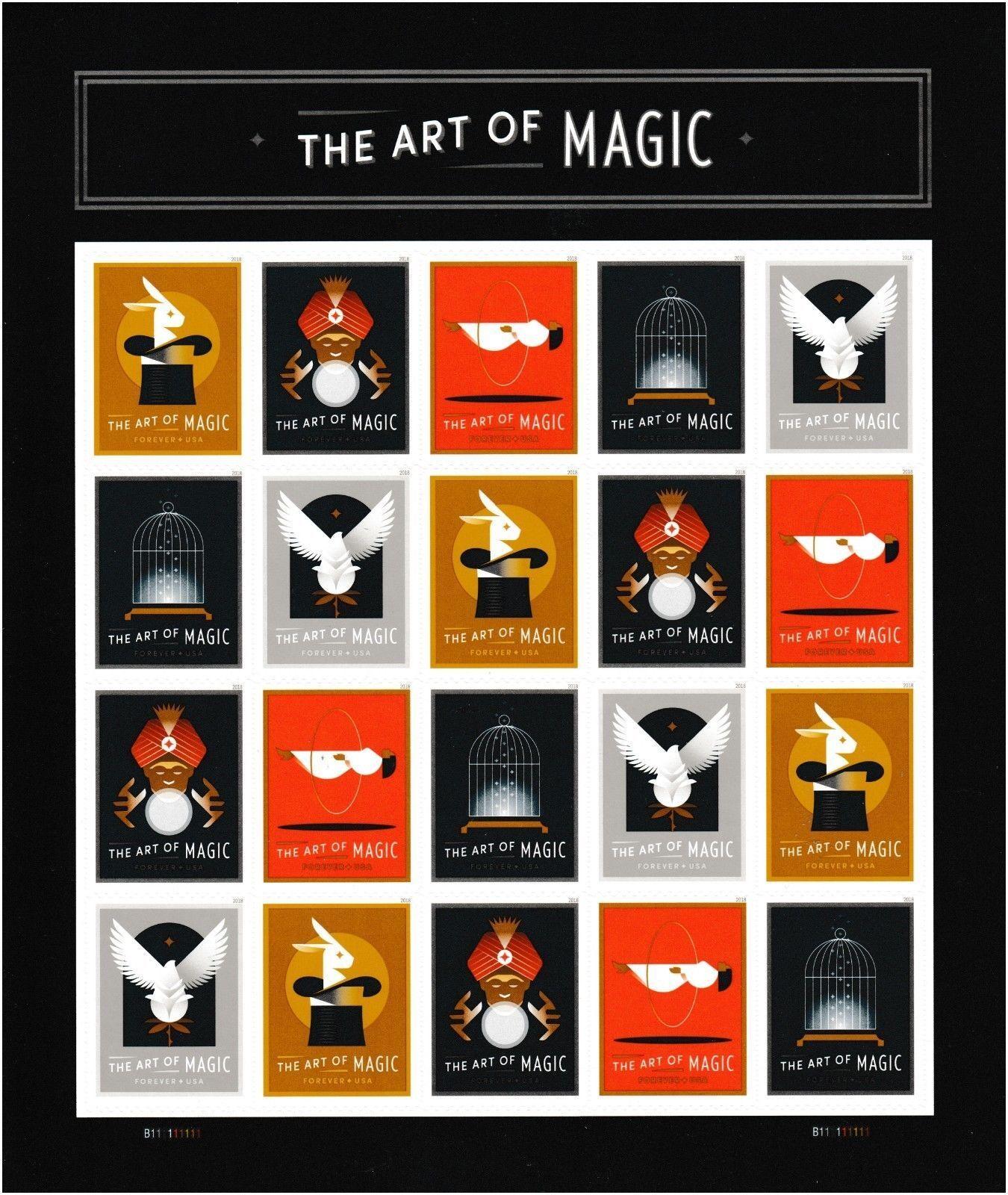2018 50c The Art of Magic, Sheet of 20 Scott 5301-5305