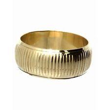 NEW 3cm Wide Lined gold gilt metal bangle bracelet fashion jewellery costume