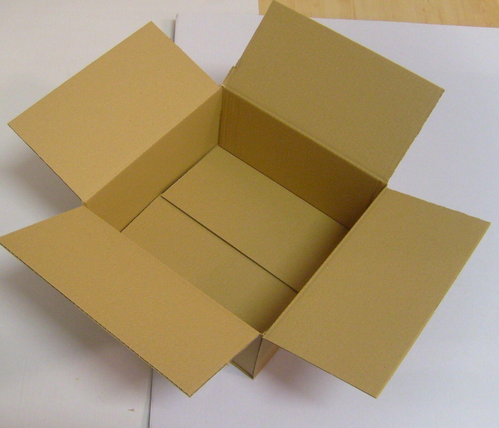 20x Faltkarton Karton 300x300x150 Faltschachtel Verpackungen Versandkarton DHL