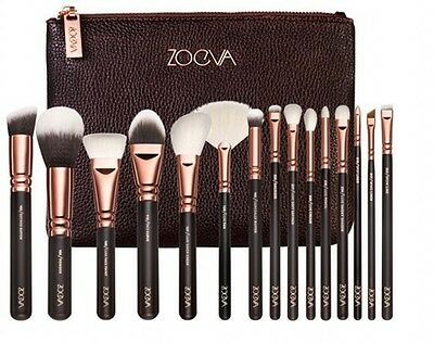 100% Genuine 15Pcs/12Pcs/8Pcs Sale Complete Zoeva Make Up Brush Set + Zipper Bag
