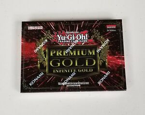 YuGiOh-Konami-2016-Premium-Gold-Infinite-Gold-Box-1st-Edition-Factory-Sealed