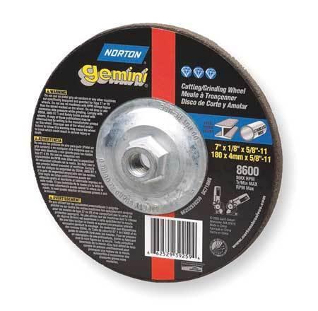 Gemini Depressed Ctr Wheel,T27,4.5x0.045x5//8-11 NORTON 66252842025