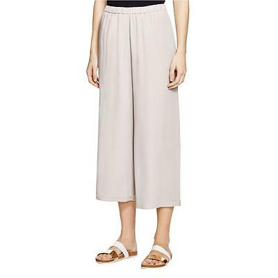 Eileen Fisher 1358 Womens Silver Silk Wide Leg No Pockets Culottes XL BHFO