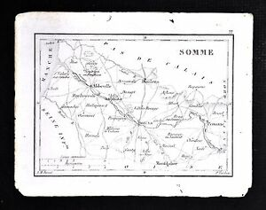 1833-Perrot-Tardieu-Map-Somme-Amiens-Abbeville-Peronne-Doulens-France