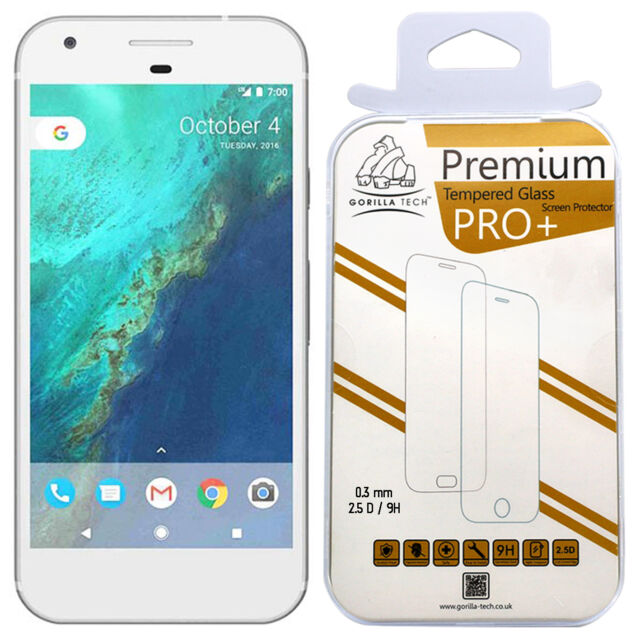 2X Google Pixel XL Genuine Gorilla Tech Brand Screen Protector Tempered Glass