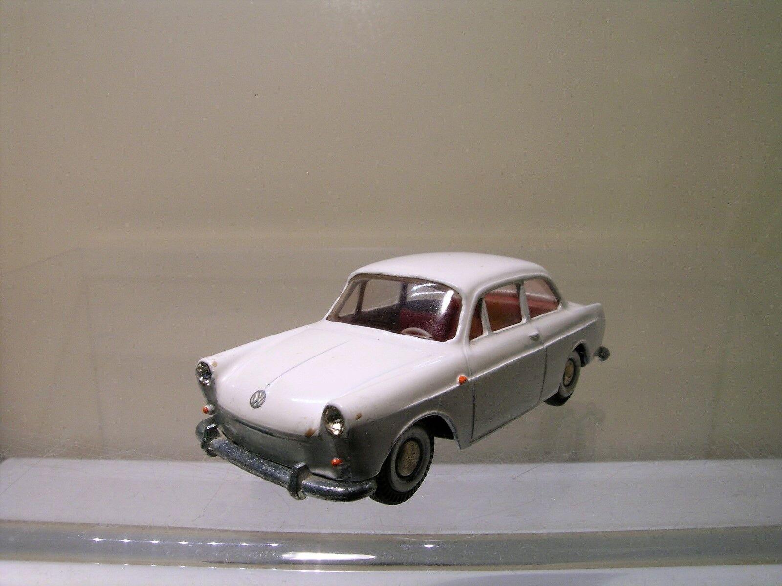 TEKNO DENMARK 828-156 VW VOLKSWAGEN 1500 1961 bianca NEAR-MINT SCALE 1 43