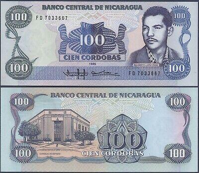 """NICARAGUA P144***500 CORDOBAS SERIE /""""G/"""" ***ND 1985***UNC****USA SELLER"""