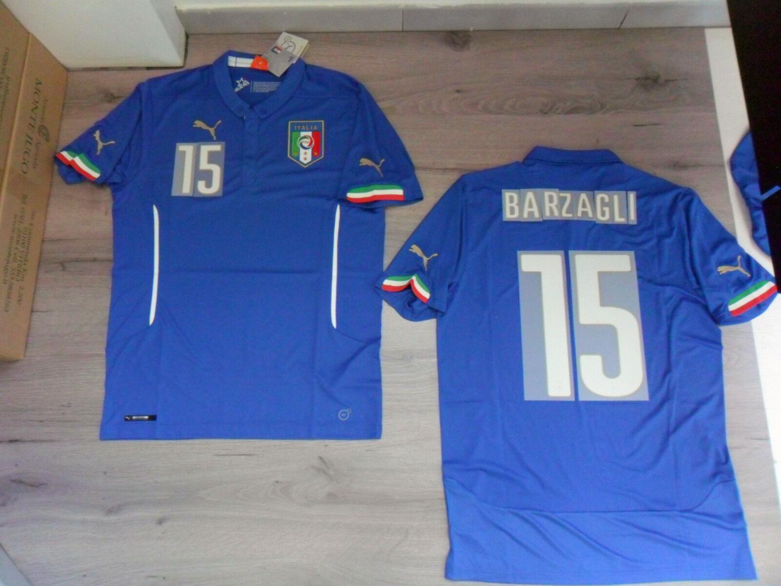 FW14 PUMA S HOME ITALIA 15 BARZAGLI MAGLIA MAGLIETTA MONDIALI SHIRT JERSEY