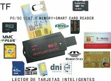 Lector de DNI ELECTRONICO, Tarjetas de memoria, Tarjetas SIM