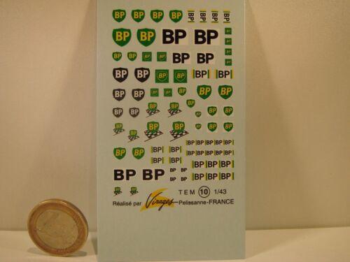 "VIRAGES T10 DECALS 1//43 PETROLIER /"" BP /"""