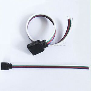 Lot-10-PCS-4-Pin-Female-Connector-Cable-For-RGB-5050-3528-LED-Strips-Lights
