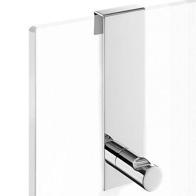 Zack SCALA Haken Tür schmale Glastür Edelstahl glänzend 40089 Handtuchhaken