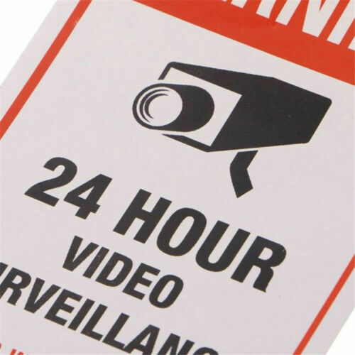 5x CCTV Video Surveillance Security Camera Alarm Stickers Warning Signs Sticker
