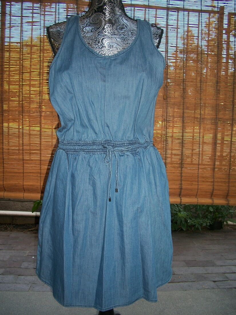 BCBGeneration - Size L - light wash denim dress
