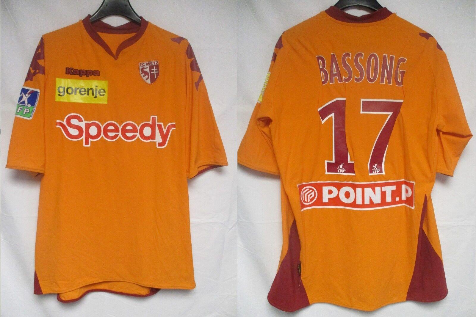 Maillot F.C METZ porté BASSONG Coupe de la Ligue 2008 Kappa away shirt  UNIQUE