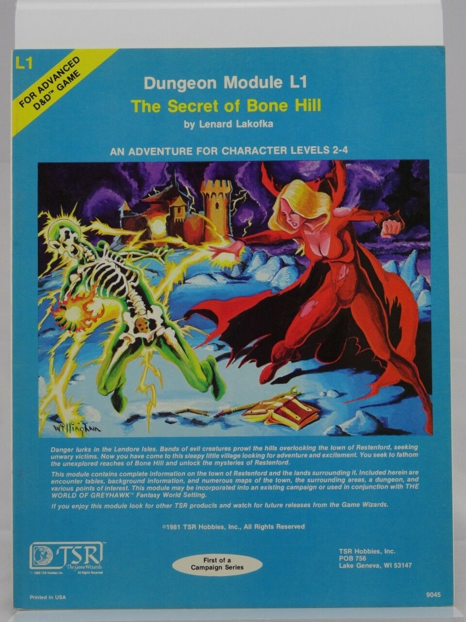 TSR 9045 Dungeon 'Module L1  The Secret of Bone Hill  (AD&D, D&D,1981) 103003005