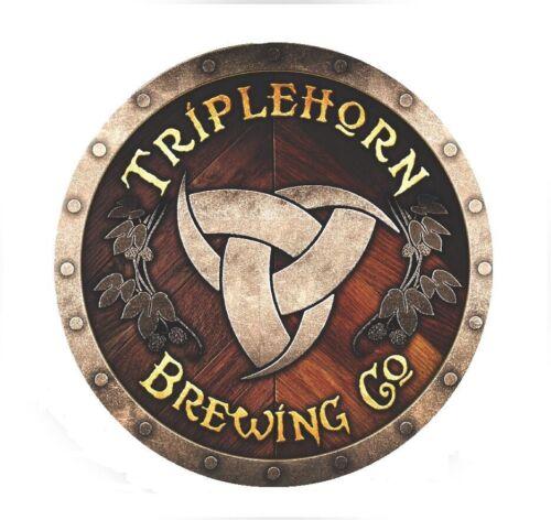 Triplehorn Brewing Company Sticker decal craft Brewery Micro Washington Horns