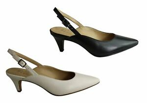 Brand-New-Naturalizer-Baylee-Womens-Leather-Comfortable-Slingback-Mid-Heel-Shoes