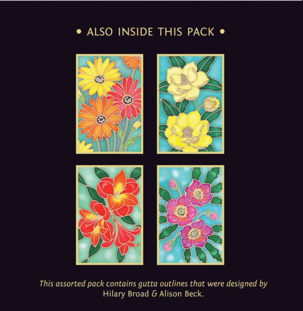 Silkcraft Silk Painting Gutta Outlines-Card Making Woodland  Animal Pack of 5