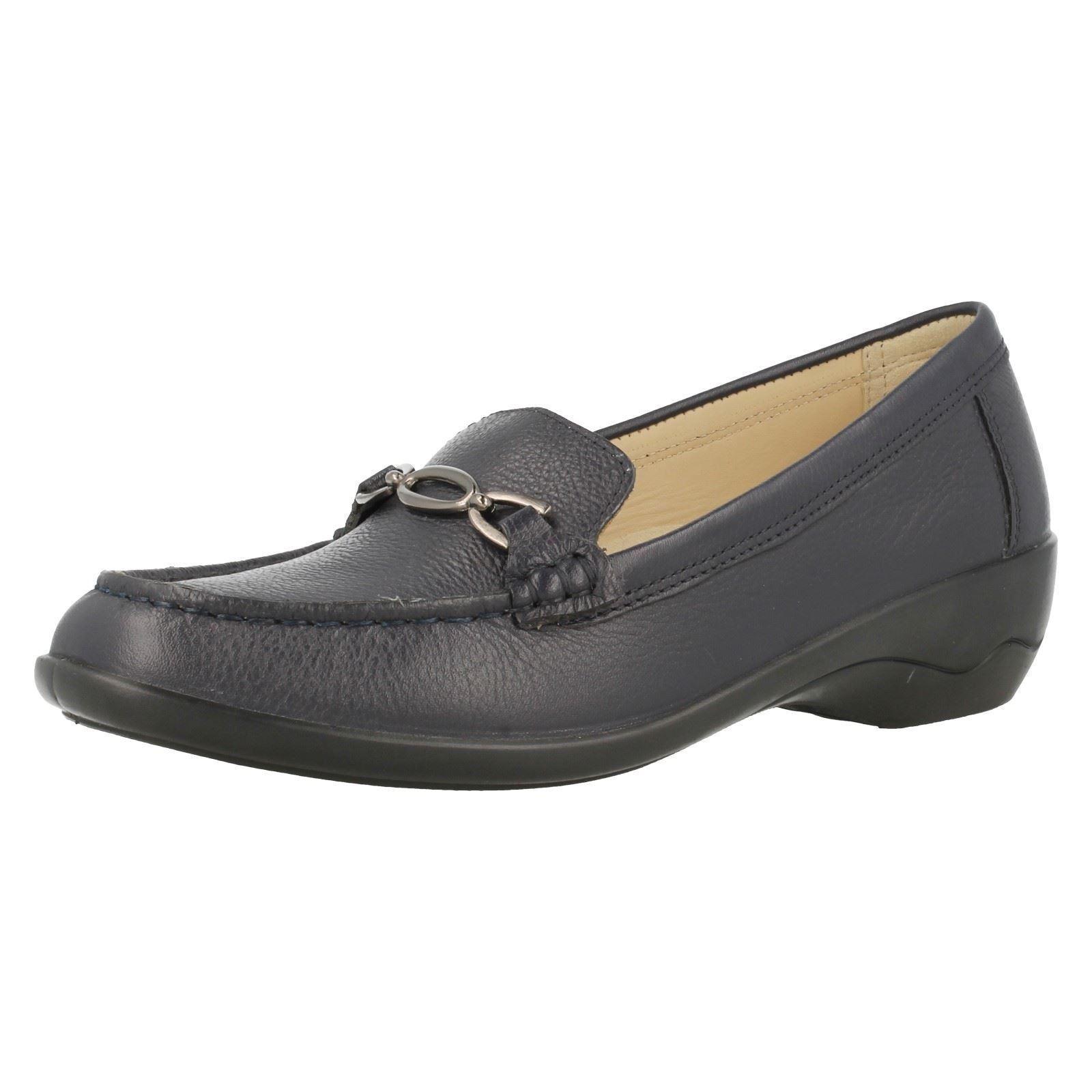 Ladies Padders Ellen Navy Leather  Wide EE EE EE Fitting Slip On Moccasin shoes Size 3 c9b014