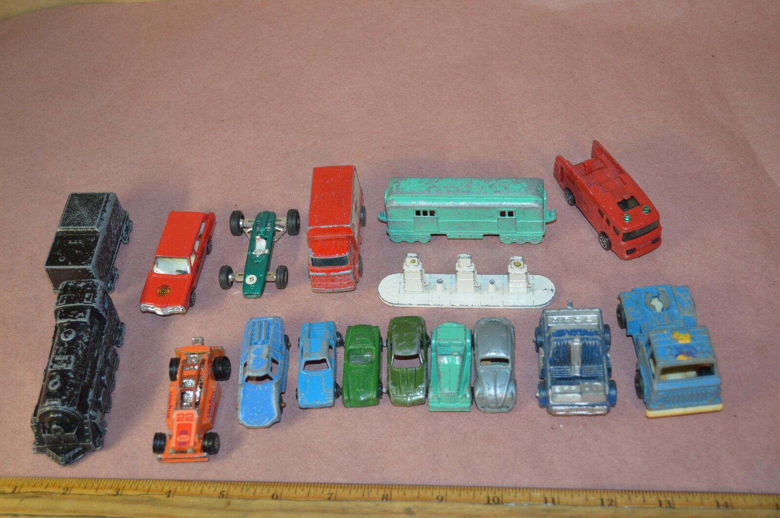 Lot Of 17 Vintage Midge Toys Tootsie Kerner Lesney Corgie Ford B.R.M. Bug  1891
