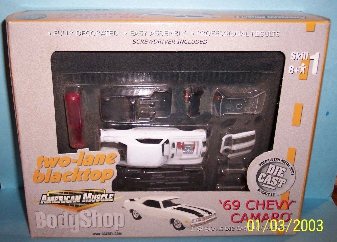 NEW SEALED ERTL AMERICAN MUSCLE MUSCLE MUSCLE BODY SHOP 1969 CHEVY 69 ' CAMARO 1 64 9fab35